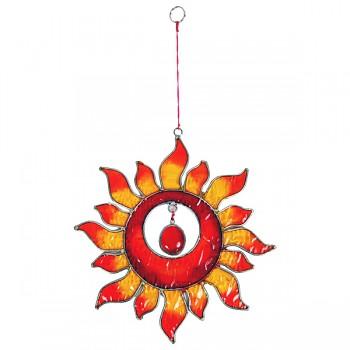 RED SUN fair trade závěsná vitrážová dekorace