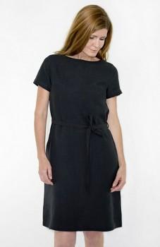 Hempline ETUI dámské šaty ze 100% konopí - černá