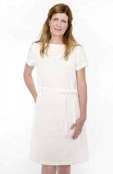 Hempline ETUI dámské šaty ze 100% konopí - přírodní