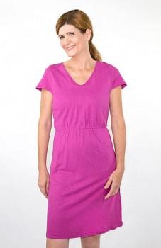 Hempline BATON dámské šaty z konopí a biobavlny - růžová
