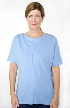 Hempline MARINE dámský top s krátkými rukávy - světle modrá della robia