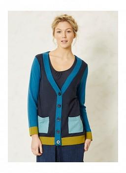 HEPWORTH dámský propínací svetr z biobavlny a vlny