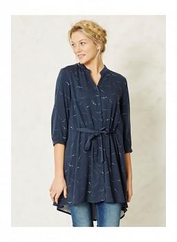 KRONBERG dámské propínací šaty z modalu a bambusu - modrá