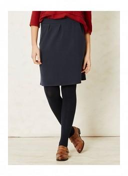 IRENA dámská úpletová sukně z biobavlny - modrá navy