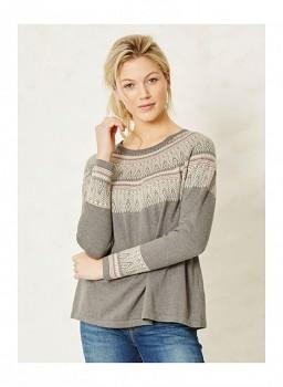 BIRNBERG dámský pulovr z biobavlny a vlny - šedá