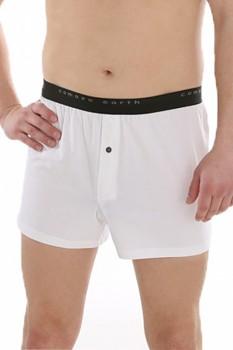 COMAZO EARTH Pánské boxerky ze 100% biobavlny - bílá