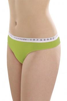 Comazo Earth Faircode Dámské kalhotky tanga z biobavlny - zelená kiwi