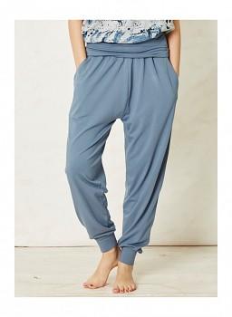 MATSUI dámské kalhoty z bambusu a biobavlny  - modrá china