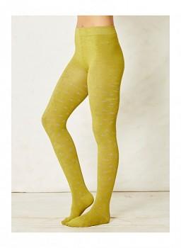 ROMAINE dámské punčocháče z bambusu a biobavlny - žlutozelená lišejníková