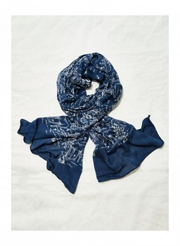 CLAUDETTE dámská šála ze 100% bambusového vlákna - tmavě modrá navy
