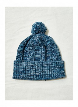 BERTHA dámská čepice z biobavlny a vlny - modrá