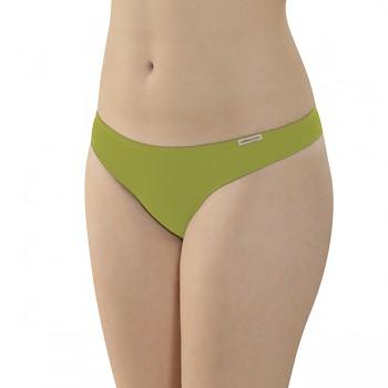 Comazo Earth Dámské kalhotky tanga z biobavlny - zelená kiwi