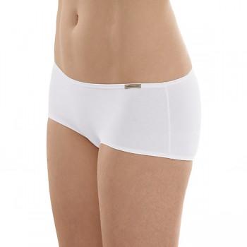 Comazo Earth Dámské bokové kalhotky panty z biobavlny - bílá
