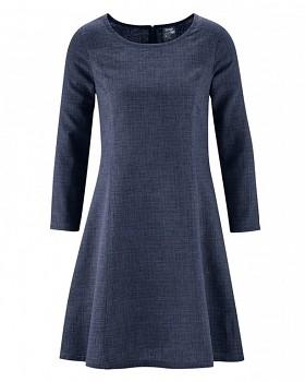 CLARICE Dámské šaty z konopí a biobavlny - tmavě modrá wintersky