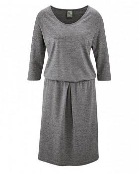 ALMUTH Dámské šaty z konopí a biobavlny - šedá grafit