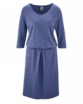 ALMUTH Dámské šaty z konopí a biobavlny - modrá chrpová