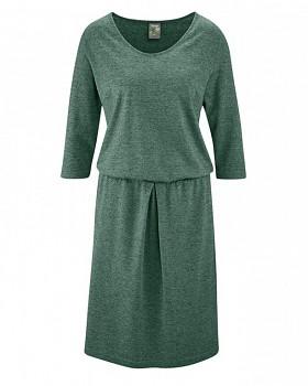 ALMUTH Dámské šaty z konopí a biobavlny - zelená algae