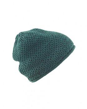SELINA dámská čepice z recyklované biobavlny a konopí - zelená
