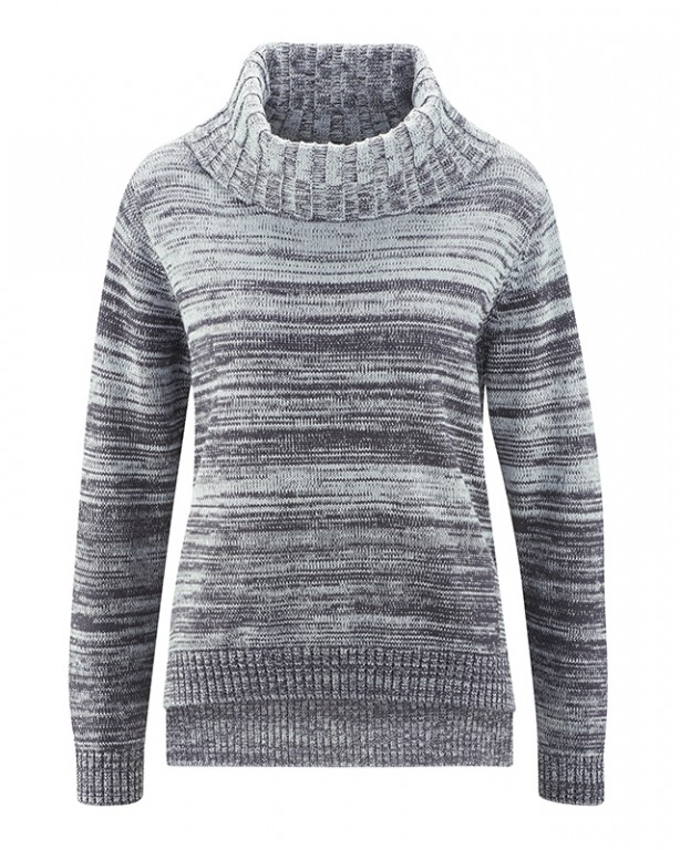 BIANCA dámský pletený svetr z konopí a biobavlny - šedá platinová ... 9b4d7850cd