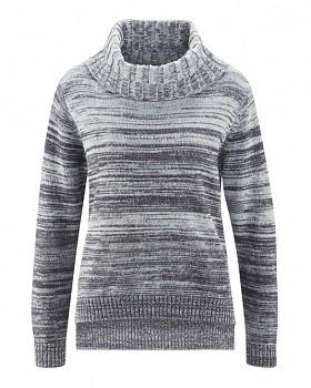 BIANCA dámský pletený svetr z konopí a biobavlny - šedá platinová