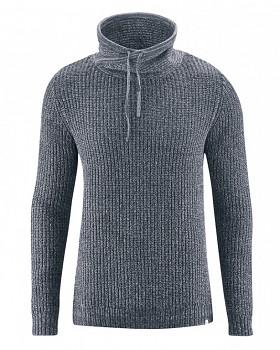 JOST pánský svetr z recyklovaného konopí a biobavlny - tmavě šedá grafit