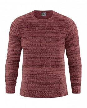 JONAS pánský pletený svetr z konopí a biobavlny - červenohnědá chestnut