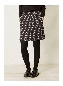 INKA dámská úpletová sukně z biobavlny - tmavě šedá