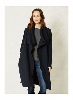 DUBOIS dámský kabát ze 100% pařené vlny - černá