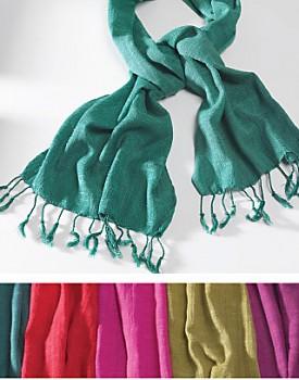 Ručně tkaná bavlněná šála z Vietnamu