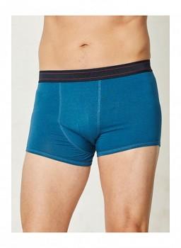 BORIS pánské bambusové boxerky - modrá ocean