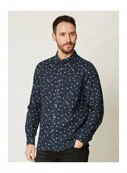AYLESBURY pánská košile s dlouhými rukávy z konopí a biobavlny
