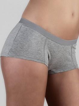 BOY dámské kalhotky (boxerky) z biobavlny - šedá