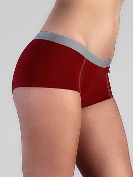 BOY dámské kalhotky (boxerky) z biobavlny - červená