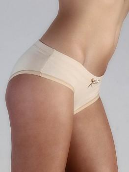 HIP dámské kalhotky (hipster) z biobavlny - béžová