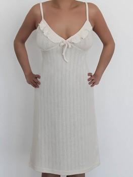 Albero dámská noční košilka ze 100% biobavlny - přírodní
