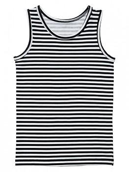 Albero dívčí spodní košilka z biobavlny - černobílá