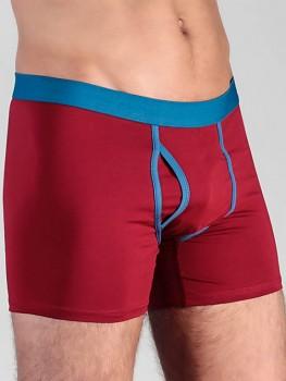 Albero pánské boxerky z biobavlny - červená