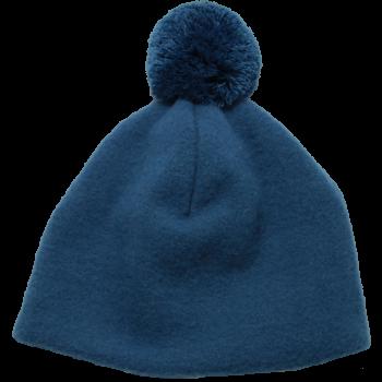 OLE unisex fleesová čepice ze 100% bio merino vlny - modrá pacific