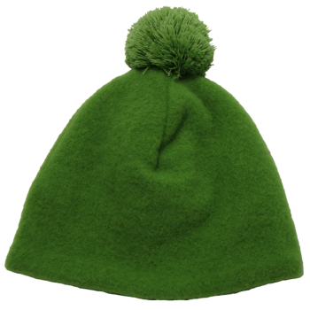 OLE unisex fleesová čepice ze 100% bio merino vlny - zelená apple