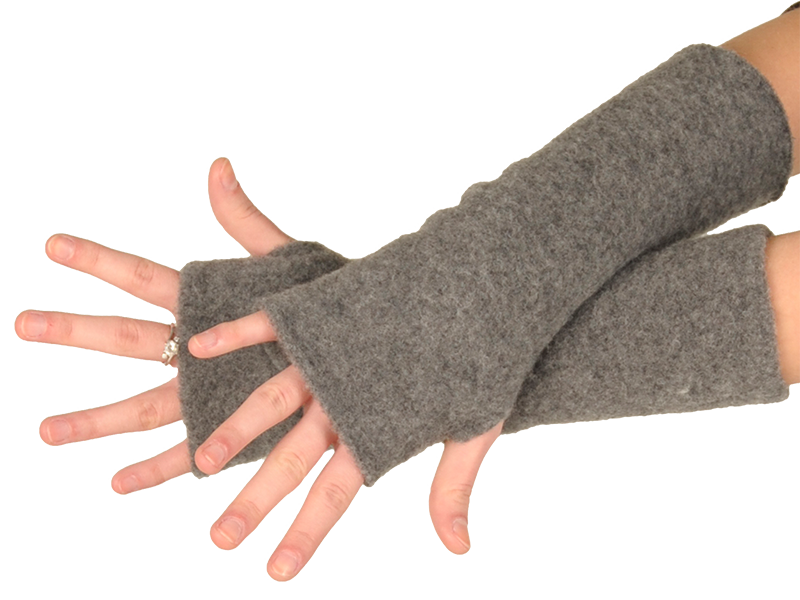 b17370e3219 REIFF fleesové návleky na ruce ze 100% bio merino vlny - světle šedá fels