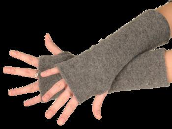 REIFF fleesové návleky na ruce ze 100% bio merino vlny - světle šedá fels
