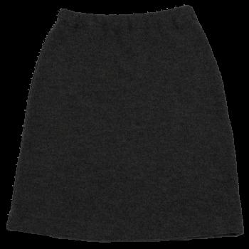 KREPP dámská sukně z vlněného buklé - tmavě šedá antracit