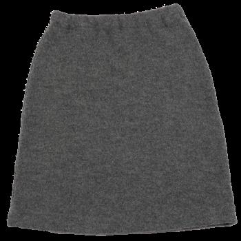 KREPP dámská sukně z vlněného buklé - světle šedá fels