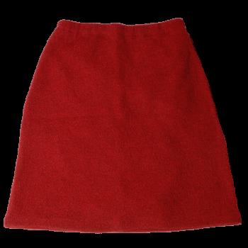 KREPP dámská sukně z vlněného buklé - červená rubin