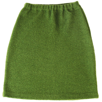 KREPP dámská sukně z vlněného buklé - zelená jablková