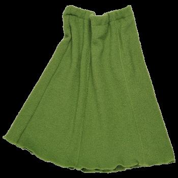 SWING dámská sukně z vlněného buklé - zelená jablková