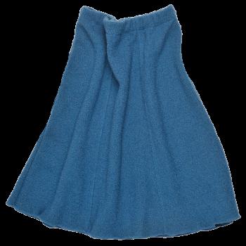 SWING dámská sukně z vlněného buklé - modrá pacific