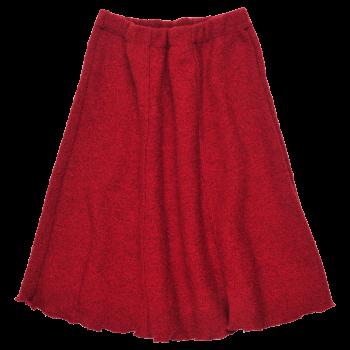 SWING dámská sukně z vlněného buklé - červená rubin