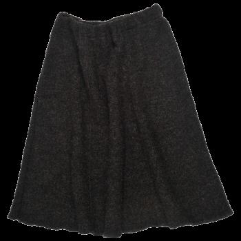 SWING dámská sukně z vlněného buklé - tmavě šedá antracit