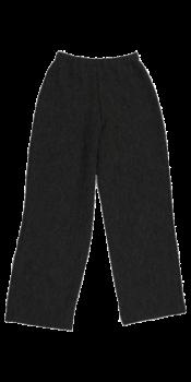 KREPP dámské teplákové kalhoty z vlněného buklé - tmavě šedá antracit
